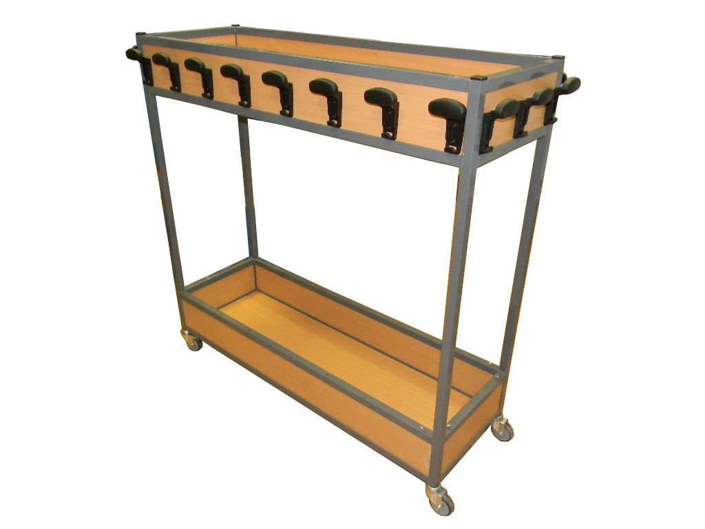 Mobile Coat Rack With Lunch Box And Shoe Storage