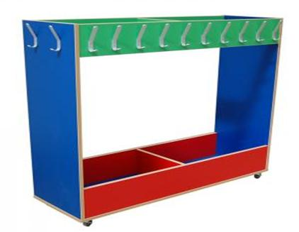 Mobile Coloured Coat And Lunch Box Rack Peter Walsh Sons Stunning School Coat Racks