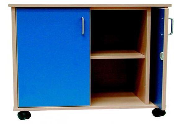 Mobile cupboard with retractable doors peter walsh sons - Retractable kitchen cabinet doors ...