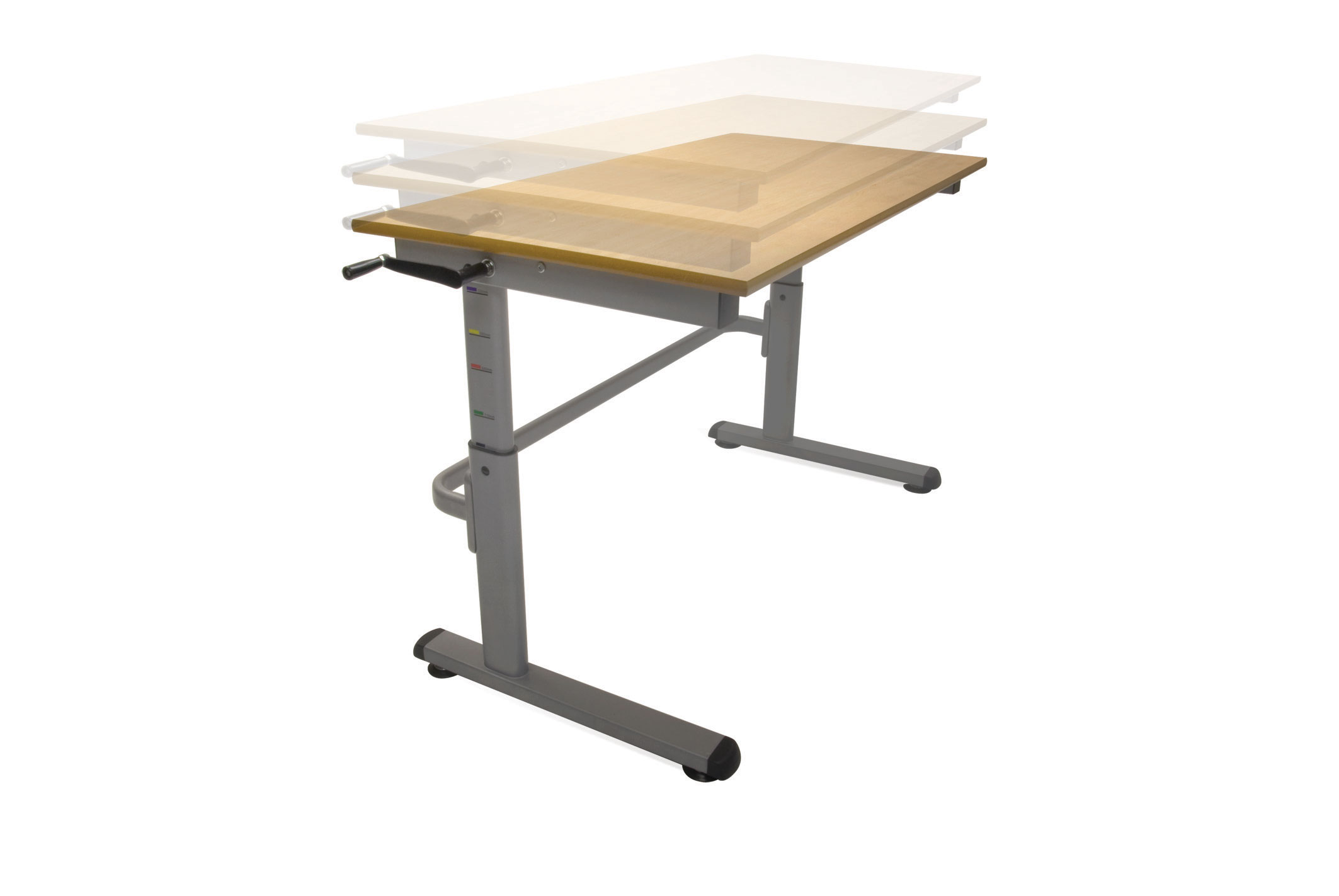 Height adjustable tables peter walsh sons for Table description