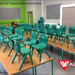 National School green chairs
