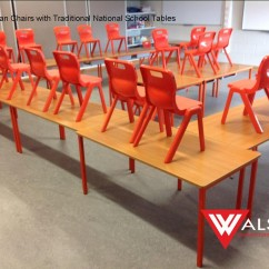 National school Orange chairs